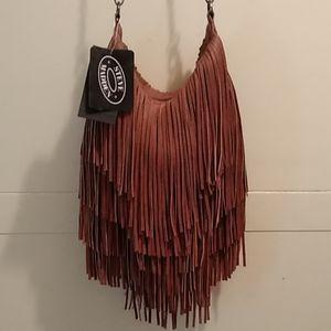 Steve Madden Fringe Convertible Bag NWT